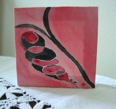 One of a Kind Original 4x4 Acrylic Mini Art by ChanelledCreations, $18.00