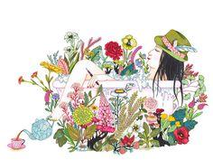 12_la fille au bain - Illustrations du livre Abris. Editions Les Fourmis Rouges_2014