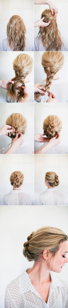 Braided French Twist How To via oncewed.com