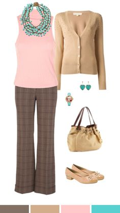 An outfit for Light Spring Coloring Season that can also work for Soft Autumn