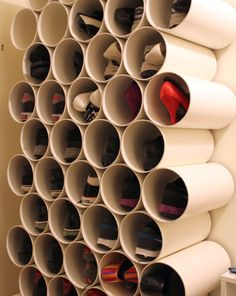 Shoe Rack out of PVC Pipes