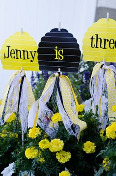Honey Bee Party PRINTABLE Birthday Yard Signs by by lovetheday, $15.00