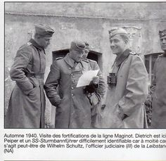 Joachim Peiper and Sepp Dietrich during a visit to the Maginot Line in the autumn of 1940