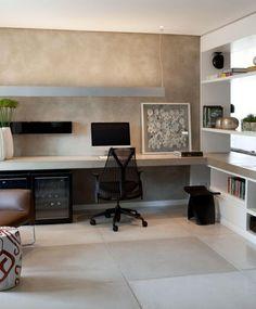 Escritório integrado na sala