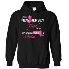 Best gift - (NJJustHong001) Just A New Jersey Girl In A Massachusetts World T-shirt/mug BLACK/NAVY/PINK/WHITE M/L/XL/XXL/3XL/4XL/5XL