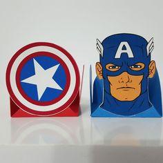 Decoração de festa tema Capitão América...Captain America Birthday Party Ideas...Forminhas para Docinhos