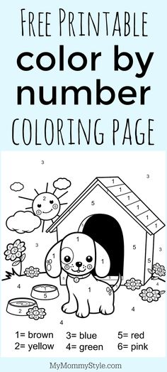 Color By Number Free Printable