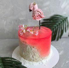 Cute Cakes, Pretty Cakes, Gorgeous Cakes, Amazing Cakes, Island Cake, Ocean Cakes, Pastel Cupcakes, Flamingo Cake, Jelly Cake
