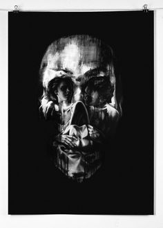 Optical illusion Tom French Skull