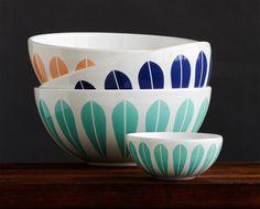 Lotus Bowl i forskjellige farger og størrelser Scandinavian Style, Lotus, Kitchen Ideas, 18th, Patterns, Tableware, Beautiful, Gifts, Block Prints