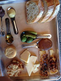 Cheese platter at Cheese and Crack. That's Brie Brûlée there.