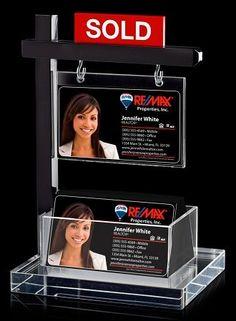 Mini Real Estate Sign & Business Card Holder