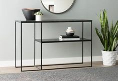 Sharen Konsolentisch - Muebles y Mobiliario Console Table Living Room, Iron Console Table, Modern Console Tables, Living Room Decor, Narrow Console Table, Decor Room, Sideboard Furniture, Iron Furniture, Modern Furniture