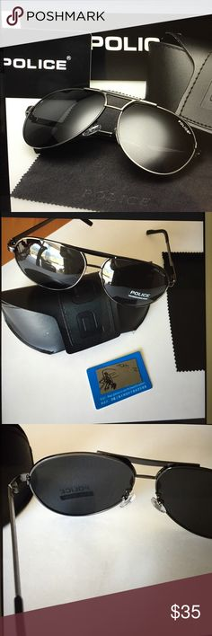 Police Polarized Men's Sunglasses/New Great polarized sunglasses that are 100% UV protected and perfect for driving, comes with a faux leather hard case, polarizing test card and cleaning cloth Boutique Accessories Sunglasses