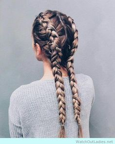 Double long braid