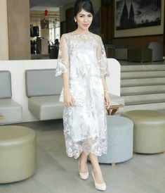 Dress Pink Wedding Maids Brides 20 Ideas For 2019 Model Dress Kebaya, Model Kebaya Brokat Modern, Dress Brokat Modern, Kebaya Modern Dress, Dress Brukat, Dress Outfits, Lace Dress, Fashion Dresses, Casual Bridesmaid