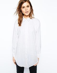 ASOS Boyfriend Shirt with Embroidered Overlay