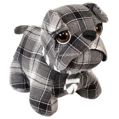 Novelty Cute Fabric Black Tartan Bulldog Door Stop Weighted Stopper Animal Dog in Home, Furniture & DIY, Home Decor, Door Accessories