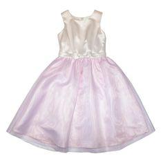 Baby Girls' Two Tone Flower Girl Dress - White/Pink