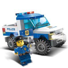 $11.7 - Nice GUDI City Police Series Building Blocks Car Helicopter Figures Block Assembled Toys Cops Educational Enlighten Children Toys - Buy it Now!