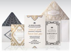 1920s Art Deco Wedding Invitation by Atelier Isabey , via Behance