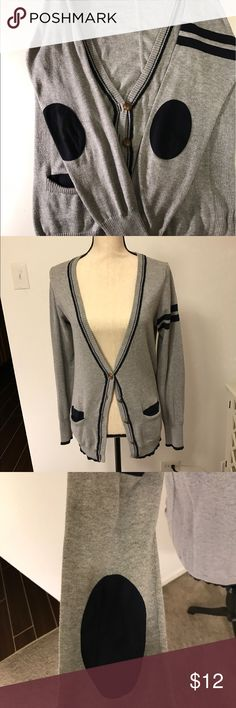 🖤SALE🖤Elbow patch cardigan Gray cardigan with blue elbow patches Forever 21 Sweaters Cardigans