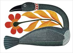 "fuckyeahnativeamericanart: "" loral Passage by Kenojuak Ashevak, Inuit (Cape Dorset) Stonecut "" Inuit Kunst, Arte Inuit, Inuit Art, Kunst Der Aborigines, Organic Art, Indigenous Art, Native Art, Native Indian, Canadian Artists"