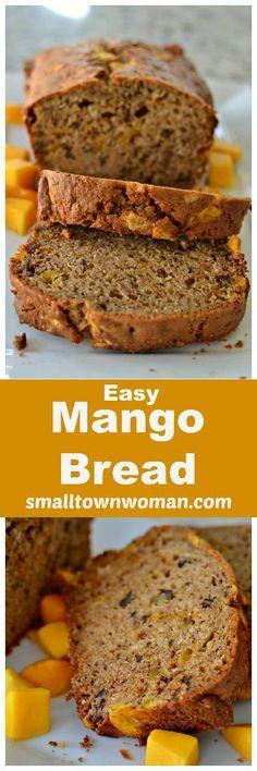 Easy Mango Bread   Mango Bread   Sweet Breads   Breakfast   Mother's Day Brunch   Brunch