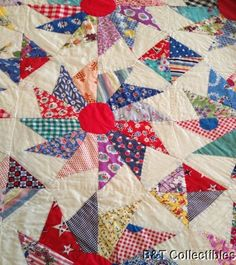 1930's Antique Star Variation Quilt