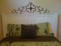 Headboard from cabinet doors...hmm I can do this.