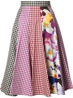 Explore the designer skater skirts edit at Farfetch. Find designer flared skirts & A line skirts from a range of coveted luxury labels. Girls Fashion Clothes, Fashion Outfits, Clothes For Women, Frocks And Gowns, Gingham Skirt, Christopher Kane, Colourful Outfits, Bollywood Fashion, Toddler Dress