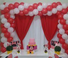 Arco Quadrado De Baloes Com 2 Cores Tema Minnie Square Balloon