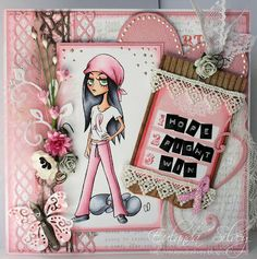 Cards and More Cards: Pink Ribbon Lil Lolita Lilith
