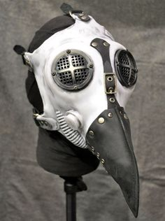 Hey, I found this really awesome Etsy listing at https://www.etsy.com/listing/229809566/plague-doctor-gas-mask-white-silicone (Steampunk Gadgets Hip Hop)