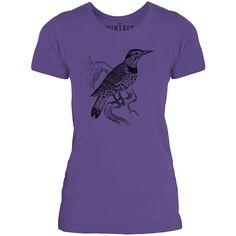 Mintage Lookout Bird Womens Fine Jersey T-Shirt