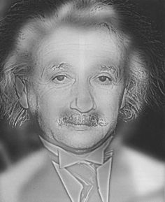 It looks like Albert Einstein, but take about ten steps back and you'll see Marilyn Monroe