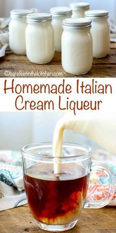 Italian Cream Liqueur is perfect for sipping, for stirring into hot coffee or tea, for drizzling over a rich cake, or even for serving with berries. Everyone who tastes this cream liqueur comes back for Holiday Drinks, Summer Drinks, Fun Drinks, Beverages, Mixed Drinks, Healthy Drinks, Homemade Alcohol, Homemade Liquor, Moonshine Recipes Homemade
