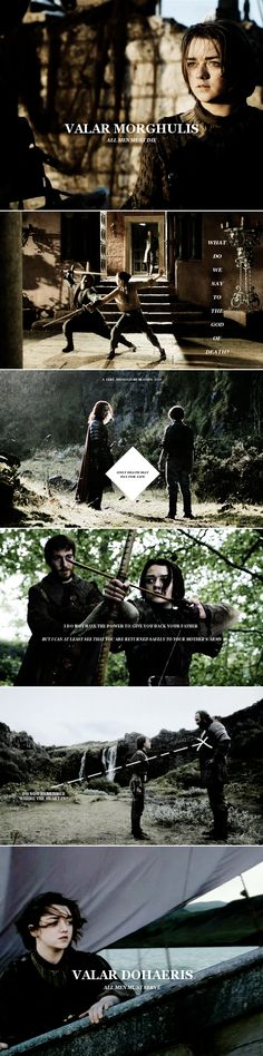 Arya Stark: She walked fast, to keep ahead of her fear, and it felt as though Syrio Forel walked beside her, and Yoren, and Jaqen H'ghar, and Jon Snow. #got #asoiaf