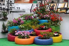 Ideas para reciclar neumaticos #reciclaje #llantas #manualidades