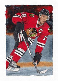Hockey player Jonathan-Toews by artist Glen Green