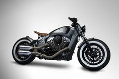 This Custom Indian Scout is a real head turner