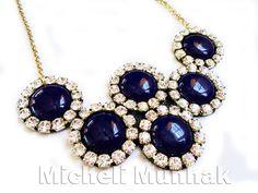 Maxi Colar Azul Anil  www.michelimunhak.com.br