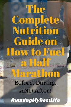 This complete nutrition guide to half marathon fueling will teach you how to eat for a half marathon from dinner the night before your half marathon to breakfast the morning of your race. Nutrition Education, Sport Nutrition, Complete Nutrition, Nutrition Guide, Nutrition Poster, Nutrition Club, Nutrition Classes, Marathon Training For Beginners, Half Marathon Training Plan