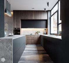 Interior design of the kitchen від Polygon Residential Complex, Create Space, Building Materials, Architecture Design, Interior Design, Behance, Kitchen, House, Bathrooms