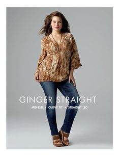 @LuckyBrand Jeans in Plus Sizes featuring Tara Lynn