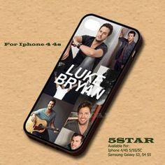 Super Star LB1 Luke Bryan Case For Apple Iphone 4/4S 5/5S | 5STAR - Accessories on ArtFire