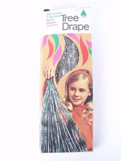 Vtg Retro Christmas Tree Icicle Drapes 450 Strands 5 Ft Silver Tinsel Double Glo #DoubleGlo