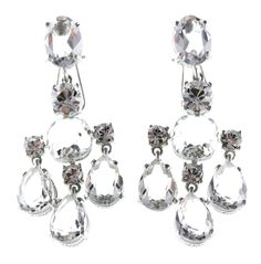 Sparkling Earrings made with Swarovski Crystals