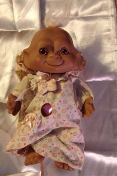 Ace Novelty Co. Troll Doll with Pink Stone Belly Button Unusual #AceNovelty #Dolls