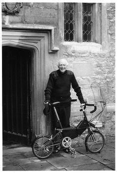 Dr Alex Moulton with special #bike